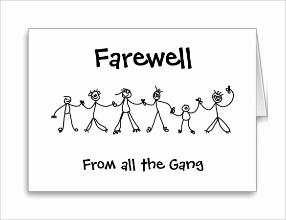 Free Printable Postcard Template New 16 Farewell Card Template Word Pdf Psd Eps