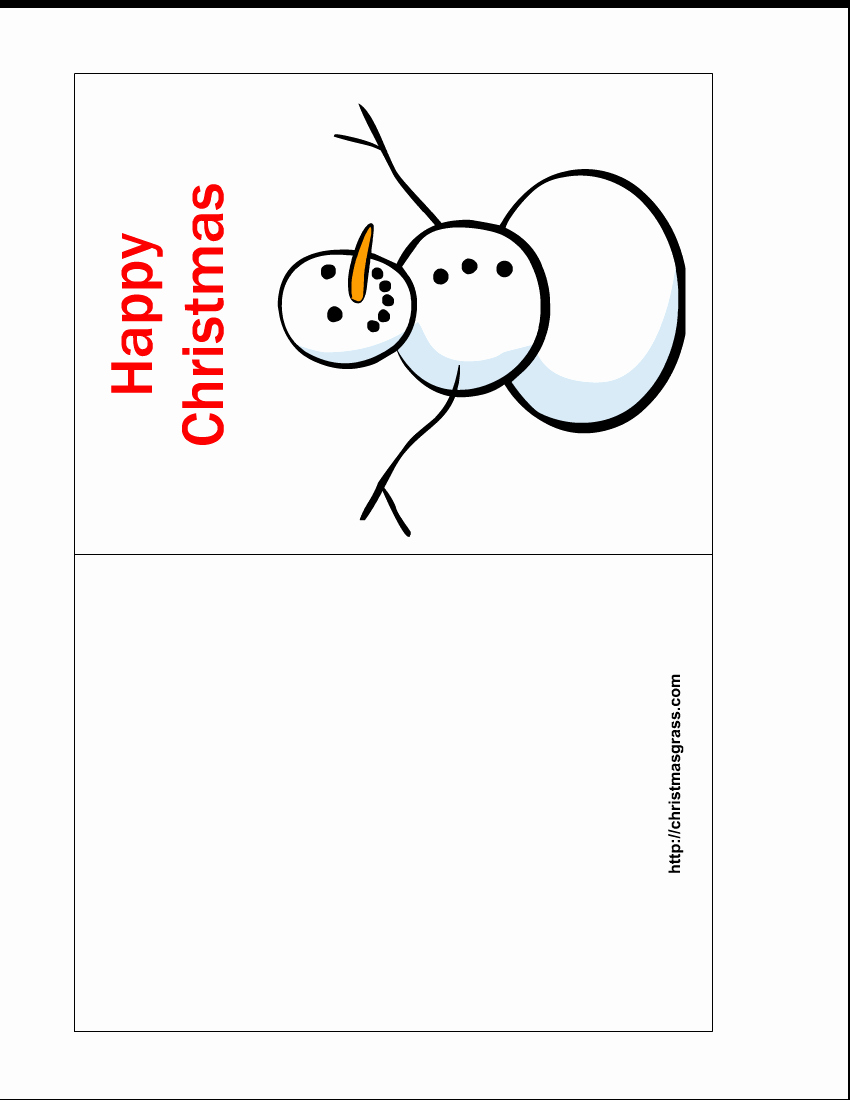 Free Printable Postcard Templates Awesome Free Printable Happy Christmas Card with Snowman