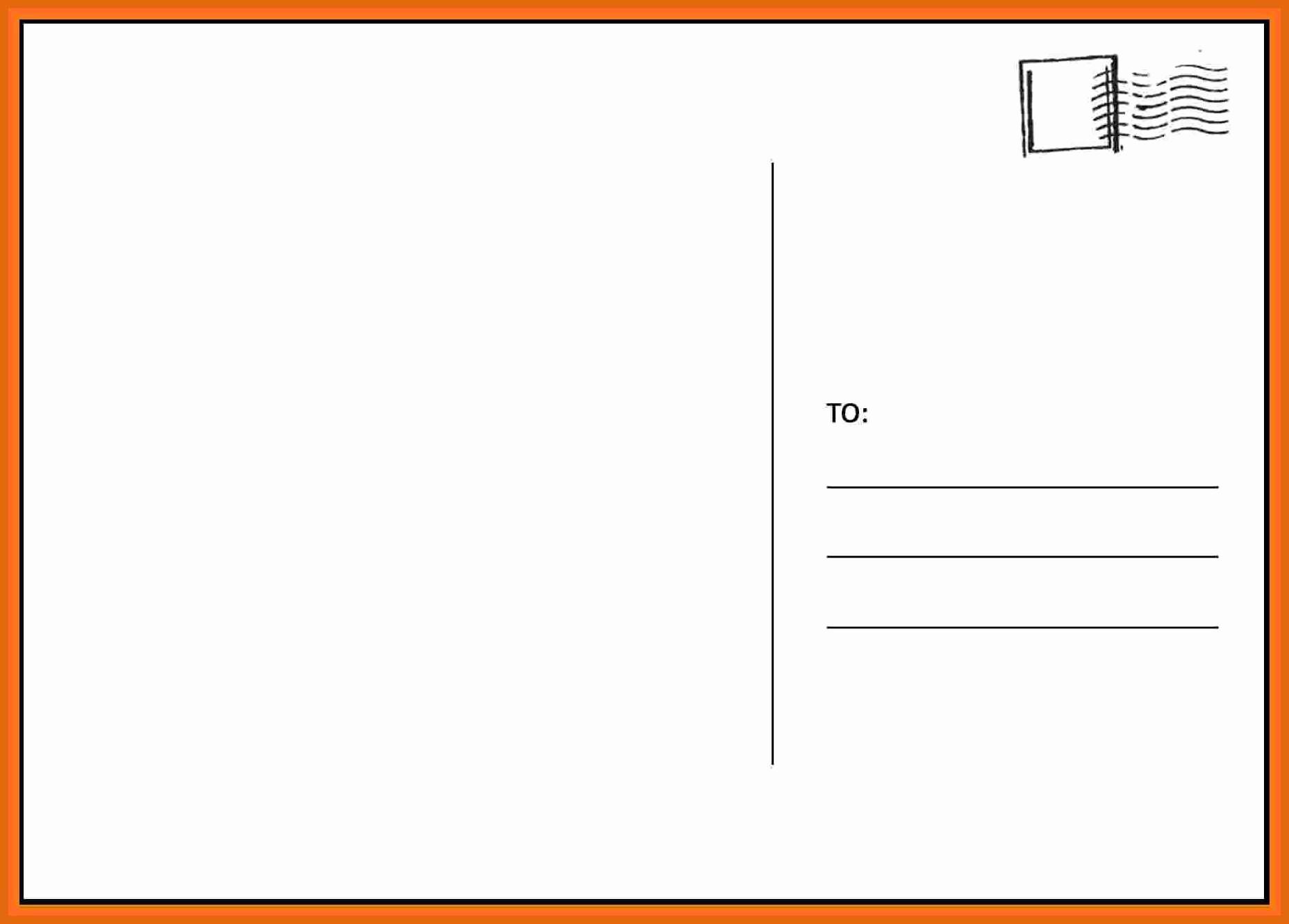 Free Printable Postcard Templates Beautiful 18 Postcard format Samples