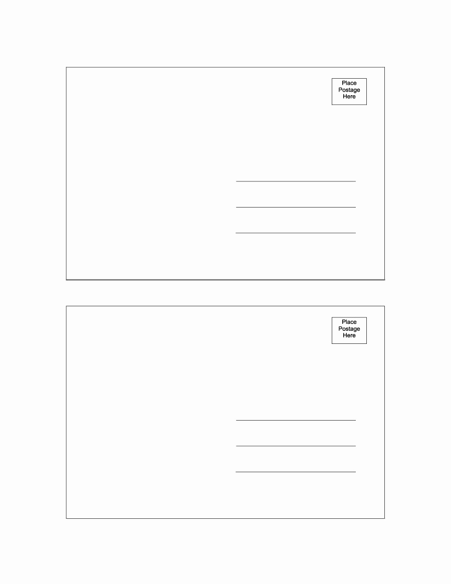 Free Printable Postcard Templates Best Of 40 Great Postcard Templates & Designs [word Pdf]