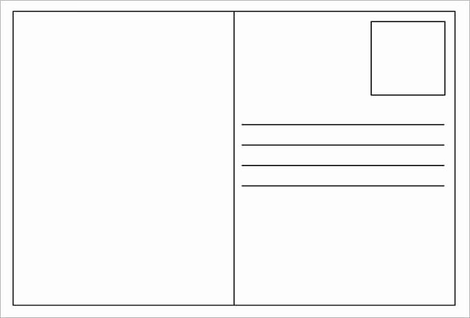 Free Printable Postcard Templates Fresh 34 Blank Postcard Templates Psd Vector Eps Ai