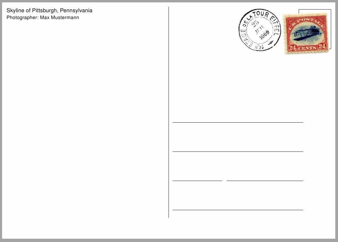 Free Printable Postcard Templates Fresh Postcard Template Free