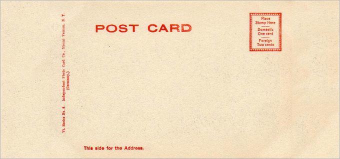 Free Printable Postcard Templates Lovely 34 Blank Postcard Templates Psd Vector Eps Ai
