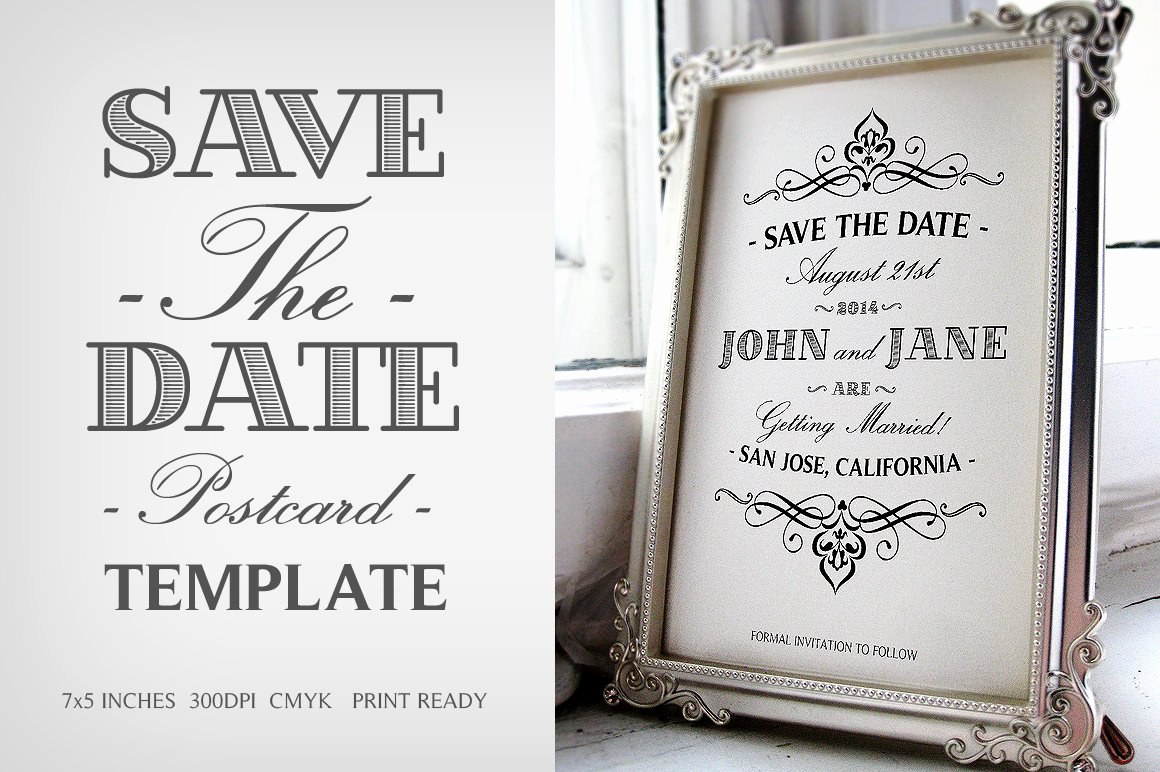 Free Printable Postcard Templates Lovely Save the Date Postcard Template V 1 Invitation Templates