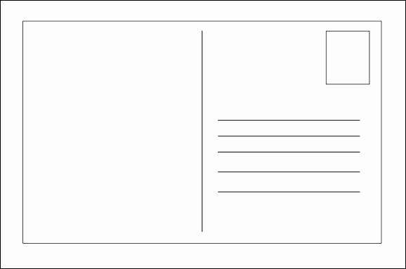 Free Printable Postcard Templates New Blank Postcard Template … Templates and Activities