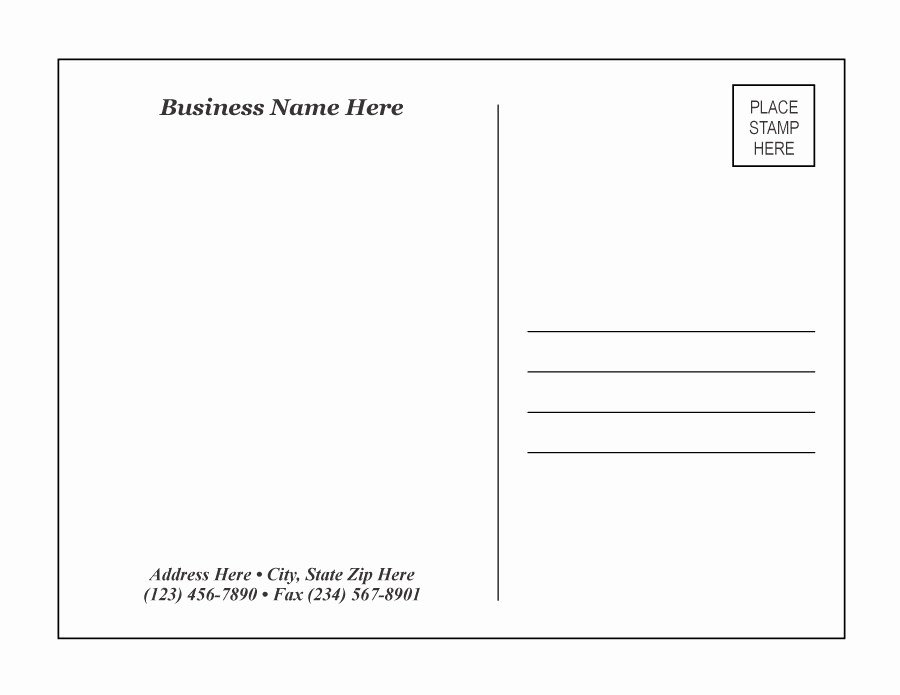 Free Printable Postcard Templates Unique 40 Great Postcard Templates & Designs [word Pdf