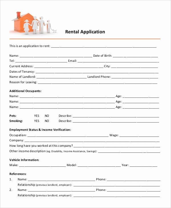Free Printable Rental Application Elegant 17 Printable Rental Application Templates