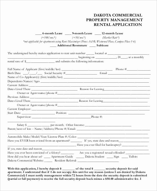 Free Printable Rental Application Luxury 17 Printable Rental Application Templates