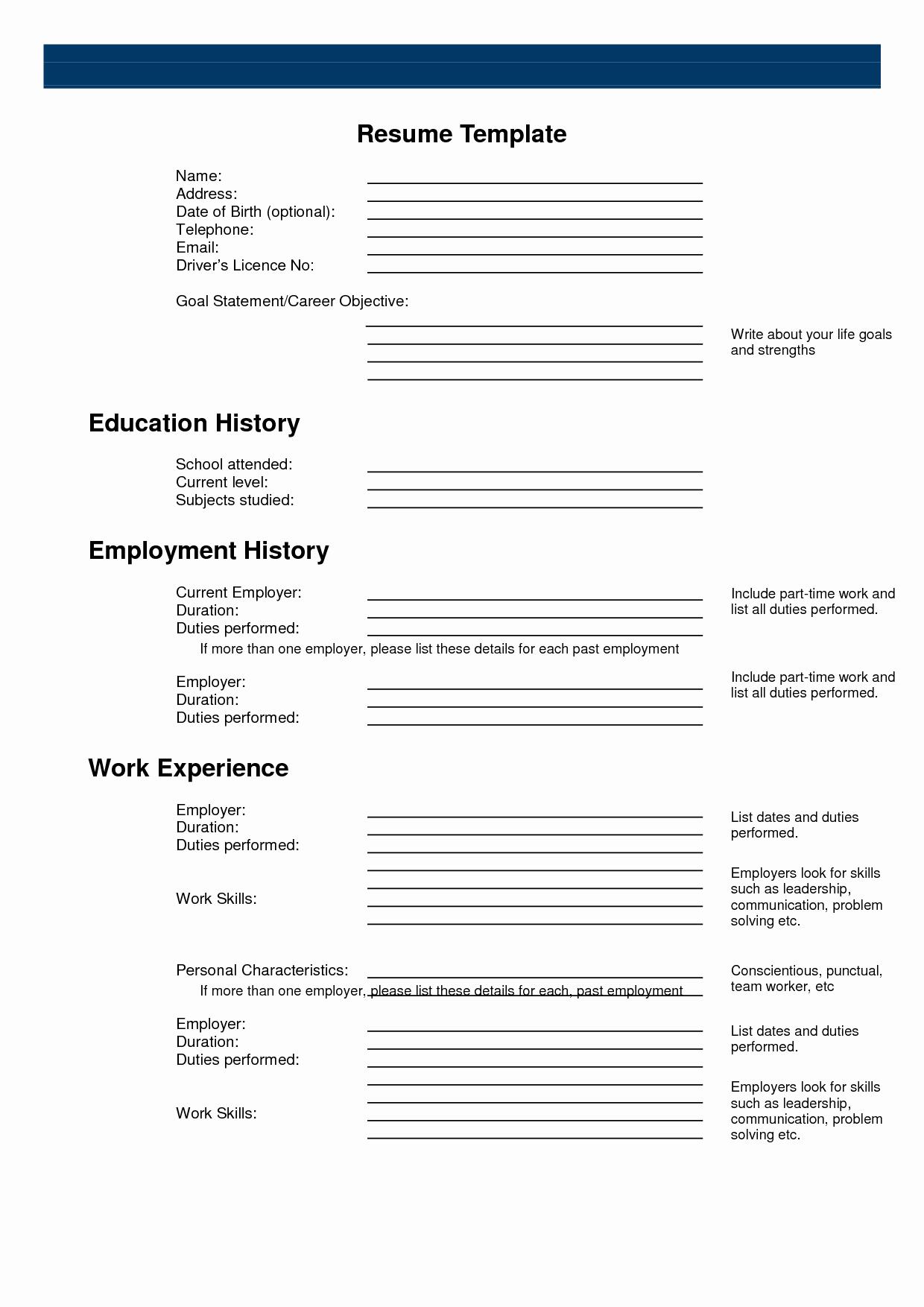 Free Printable Resume Templates Best Of Free Printable Sample Resume Templates