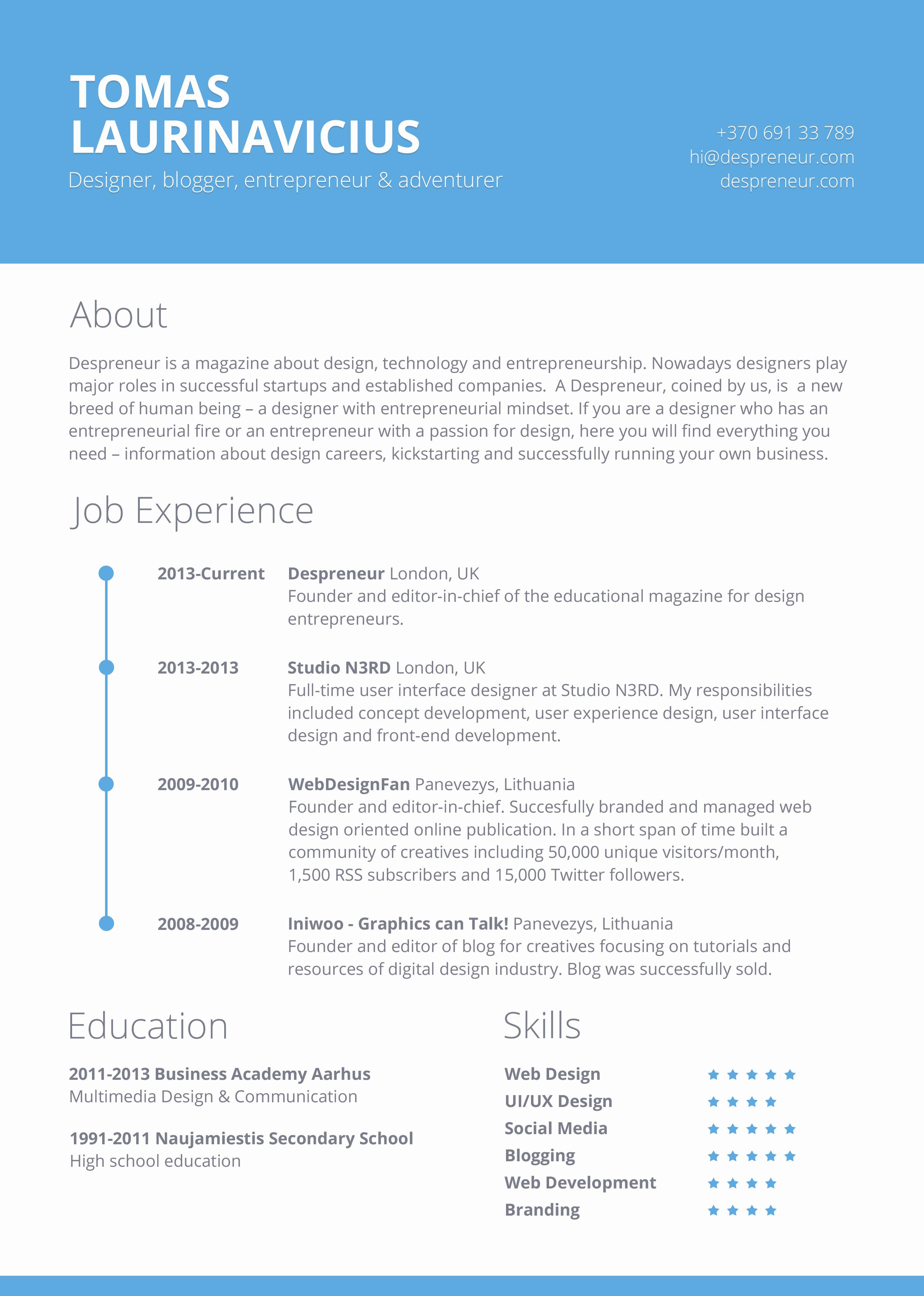 Free Printable Resume Templates Elegant 40 Resume Template Designs