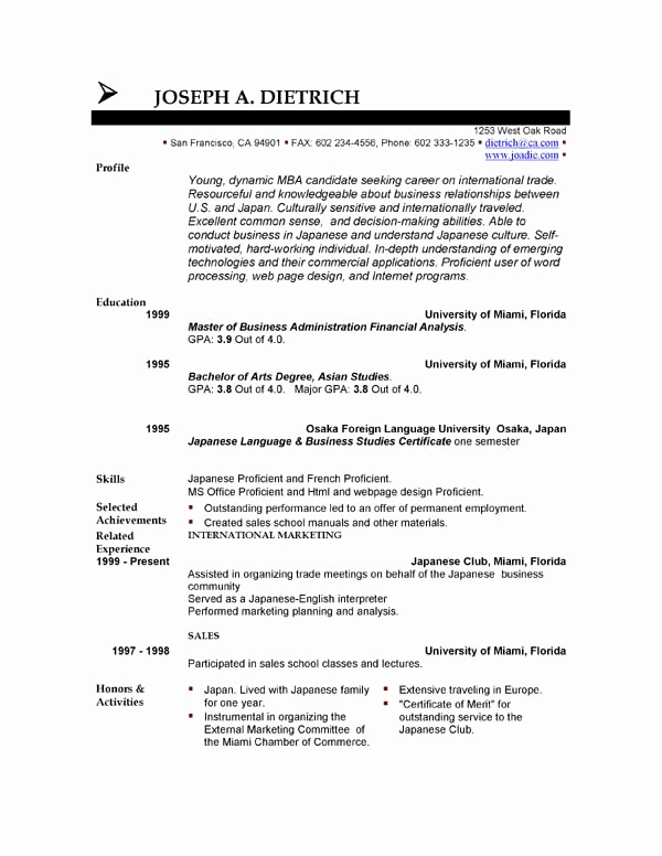 Free Printable Resume Templates New 85 Free Resume Templates
