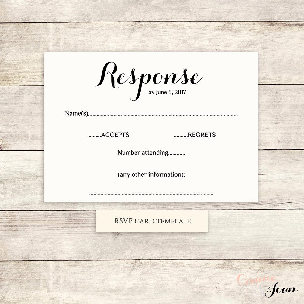 Free Printable Rsvp Cards Beautiful Printable Wedding Rsvp Template Rsvp Card byron Any