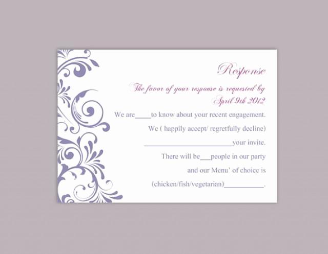 Free Printable Rsvp Cards Fresh Diy Wedding Rsvp Template Editable Word File Instant