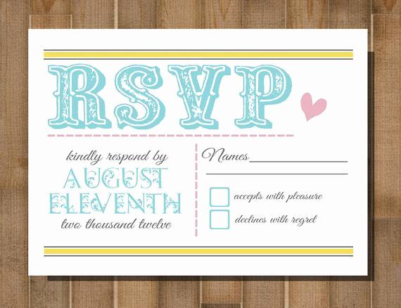 Free Printable Rsvp Cards Fresh Items Similar to Printable Rsvp Card Response Card