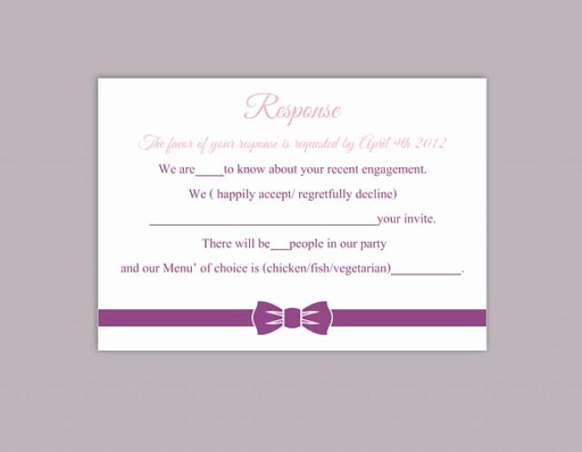 Free Printable Rsvp Cards Lovely Diy Wedding Rsvp Template Editable Word File Instant
