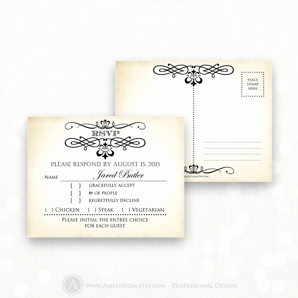 Free Printable Rsvp Cards Lovely Printable Rsvp Card Editable Instant Download Digital Diy