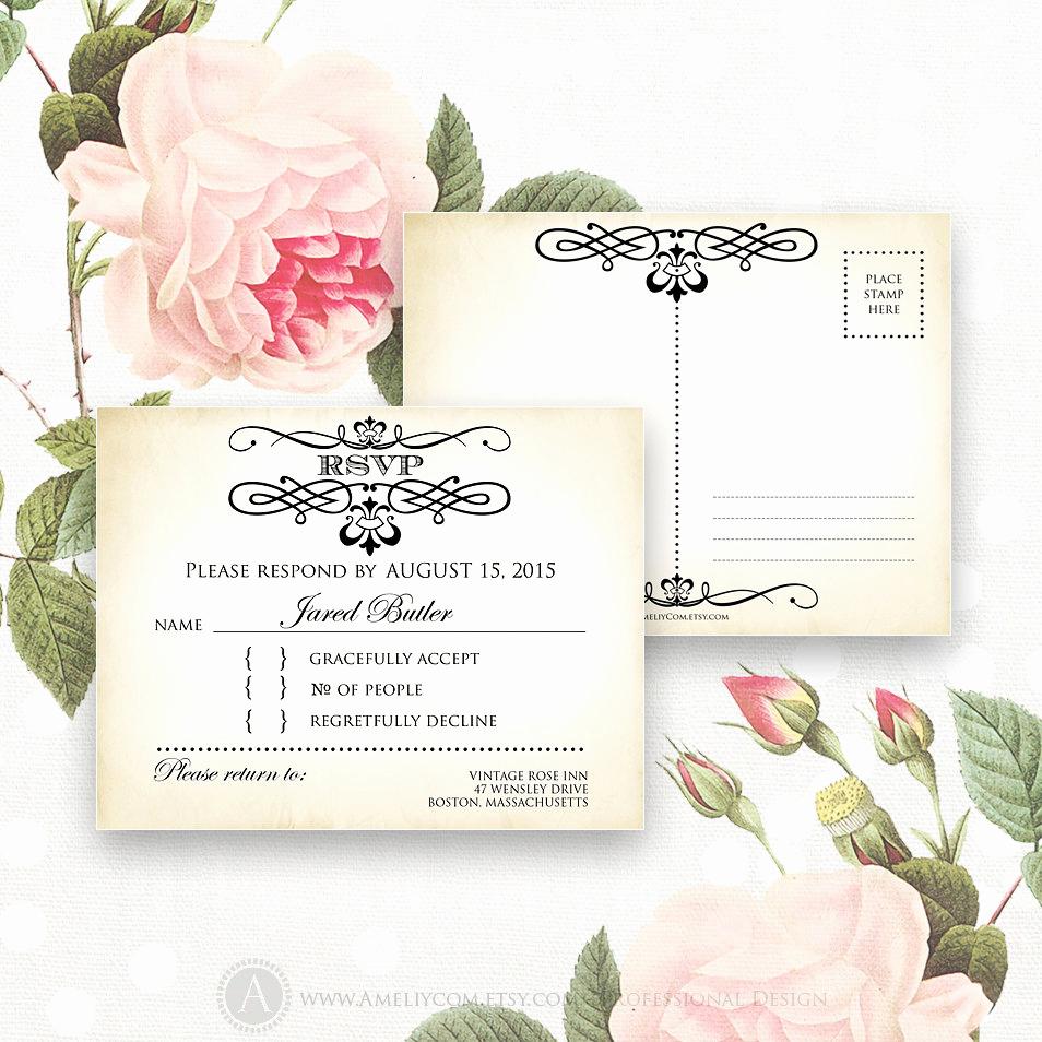 Free Printable Rsvp Cards Lovely Printable Rsvp Card Editable Instant Download Digital Diy