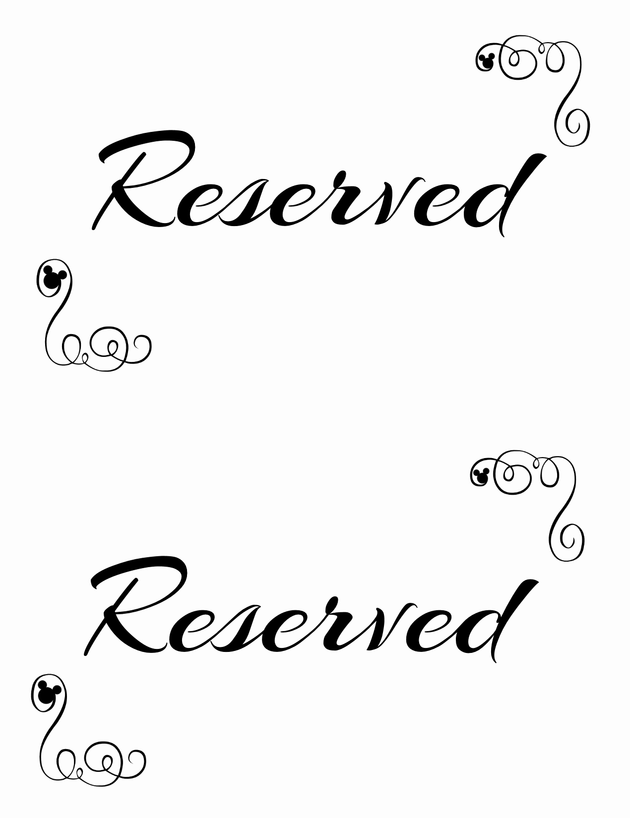 Free Printable Sign Templates Beautiful Free Printable Reserved Seating Signs for Your Wedding