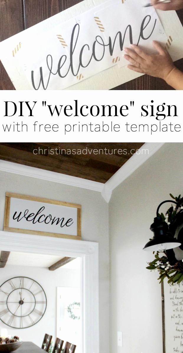 Free Printable Sign Templates Lovely Diy Wel E Sign Christinas Adventures