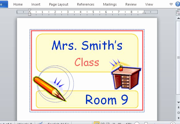 Free Printable Sign Templates Luxury Printable Classroom Sign Maker Templates for Word