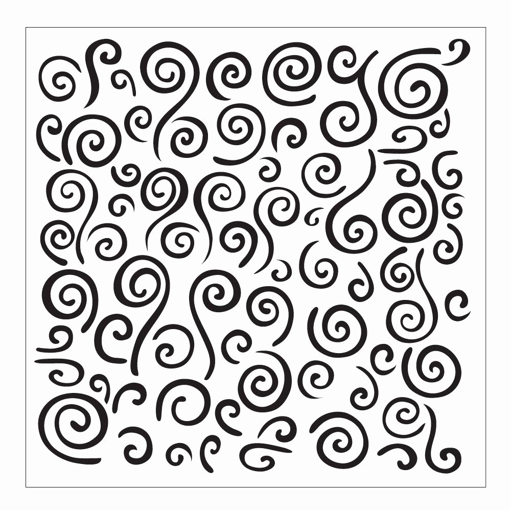 Free Printable Stencils for Painting Awesome Folkart Swirl Background Small Painting Stencil