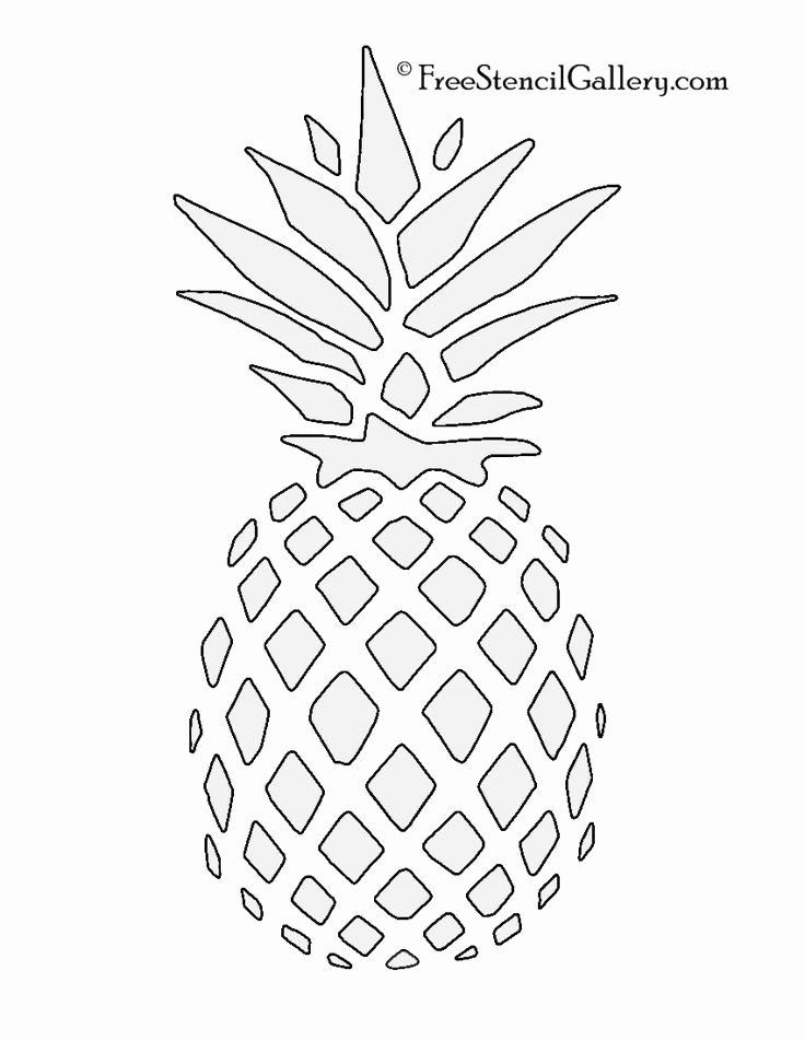 Free Printable Stencils for Painting Beautiful Pineapple Stencil Free Stencil Gallery