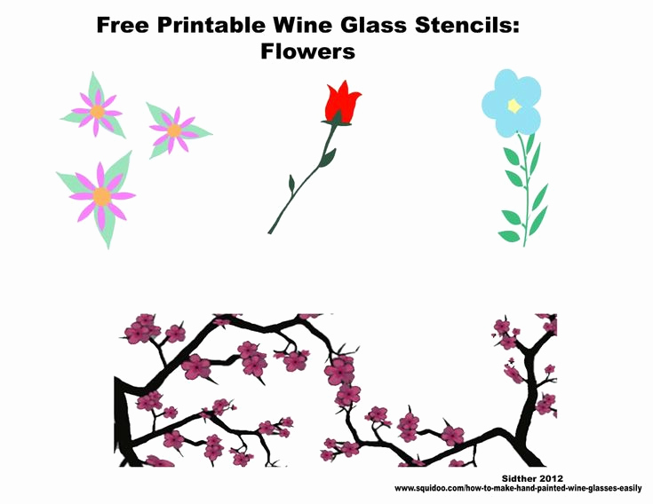 Free Printable Stencils for Painting Luxury Free Printable Stencils for Wine Glass Painting