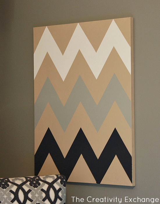 Free Printable Stencils for Painting Unique Diy Multi Colored Chevron Canvas Art with Printable Stencil