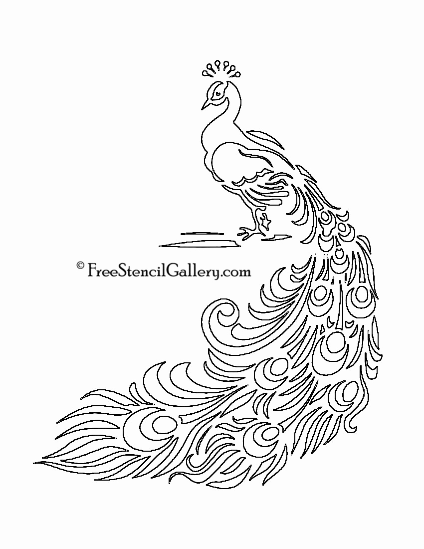 Free Printable Stencils for Painting Unique Free Printable Peacock Template