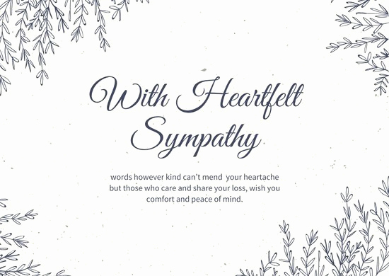 Free Printable Sympathy Cards Awesome Customize 111 Sympathy Card Templates Online Canva
