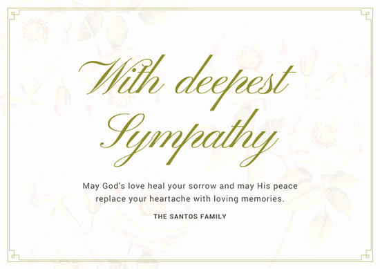 Free Printable Sympathy Cards Awesome Customize 139 Sympathy Card Templates Online Canva