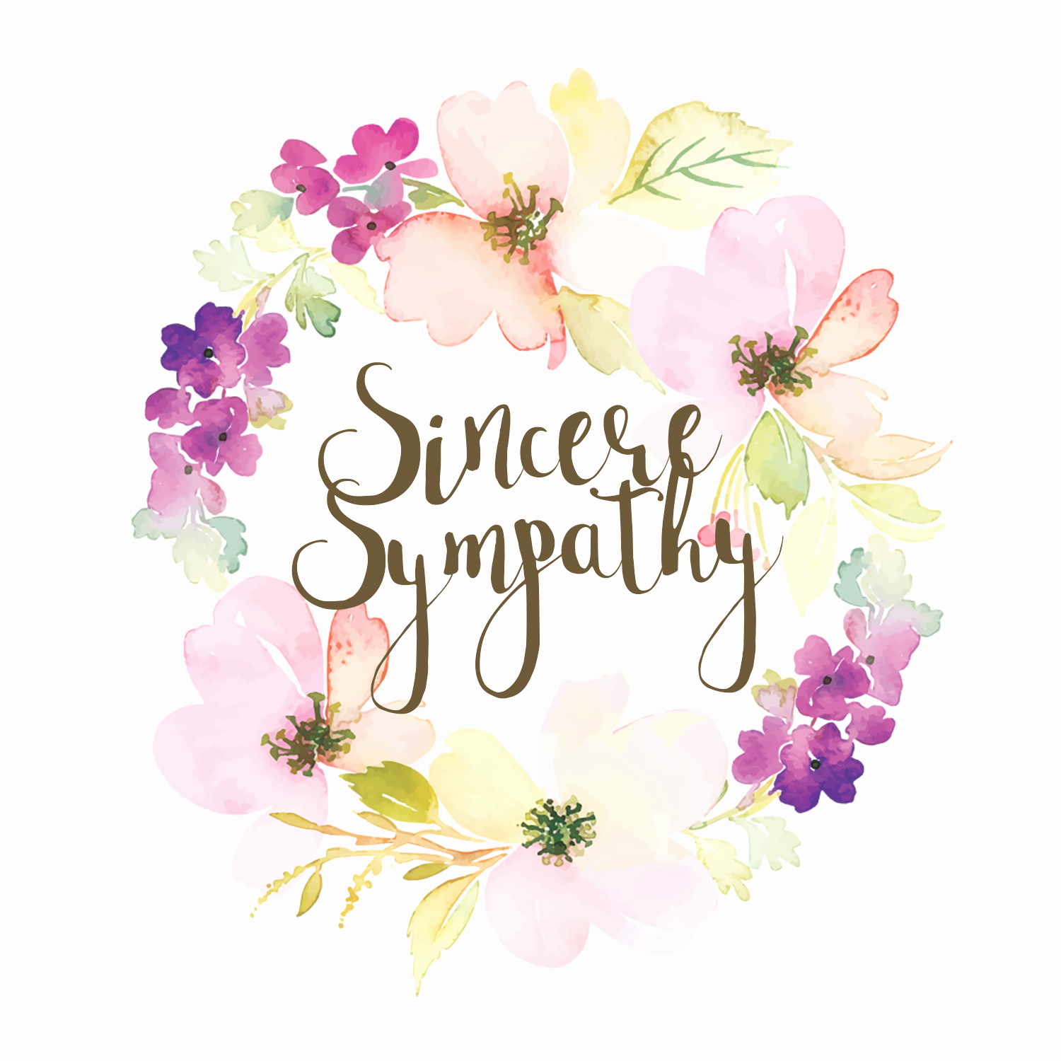 Free Printable Sympathy Cards Beautiful Loved and Missed Sympathy & Condolences Card Free