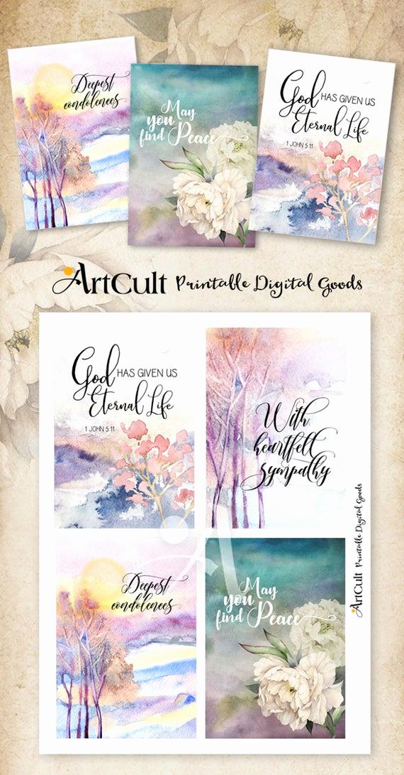 Free Printable Sympathy Cards Beautiful Printable Sympathy Condolence Cards No 2 Digital