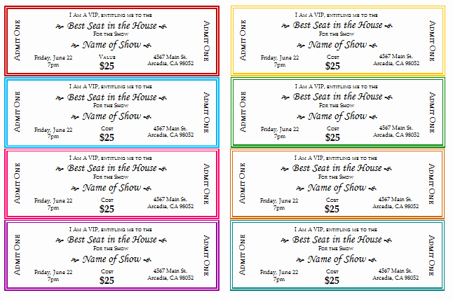 Free Printable Ticket Template Elegant 12 Free event Ticket Templates for Word Make Your Own