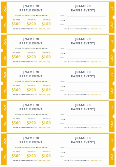 Free Printable Ticket Template Fresh Free Printable Raffle Ticket Templates