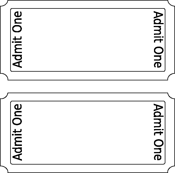 Free Printable Ticket Template Lovely Movie Ticket Clip Art at Clker Vector Clip Art