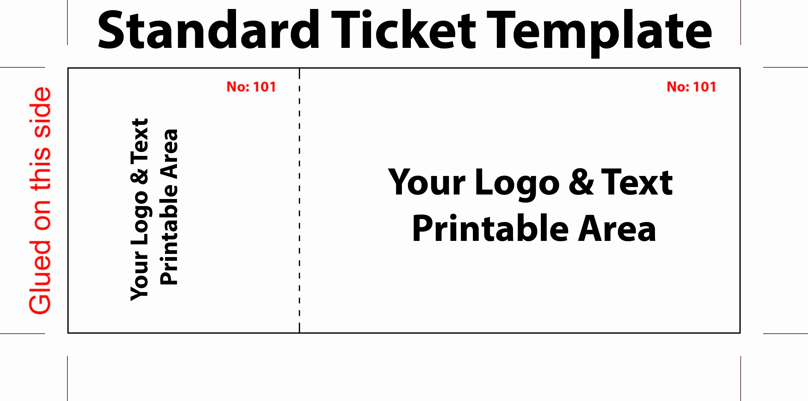 Free Printable Ticket Template New Free Editable Standard Ticket Template Example for Concert