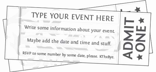 Free Printable Tickets Template Awesome Free Editable Printable event Tickets