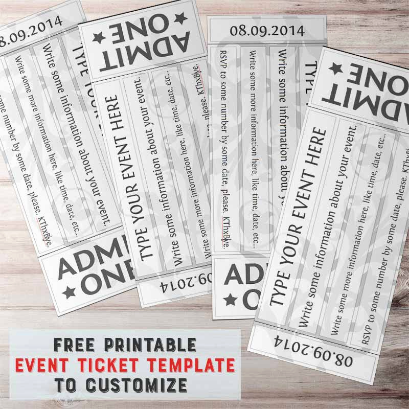 Free Printable Tickets Template Beautiful Free Printable event Ticket Template to Customize