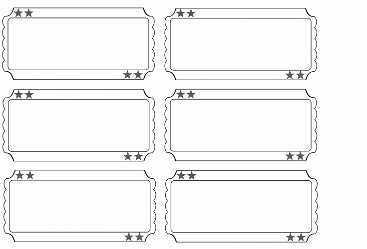 Free Printable Tickets Template Elegant Printable Raffle Tickets Blank Kids Google Search