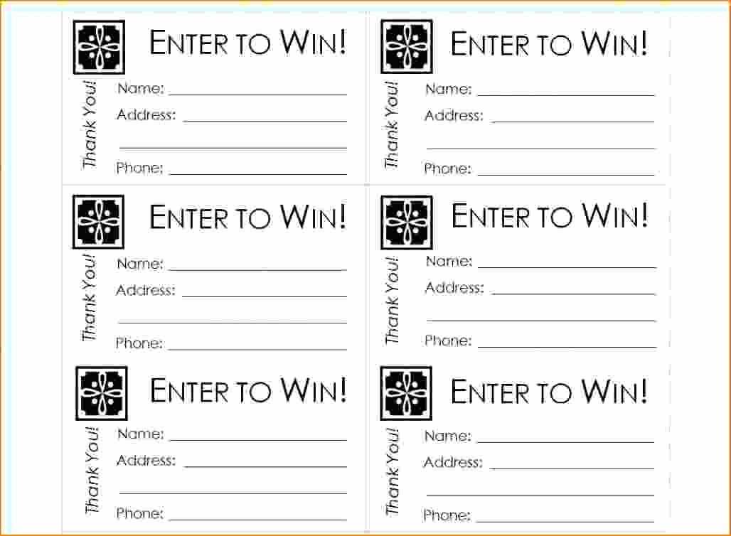 Free Printable Tickets Template New Raffle Tickets Template