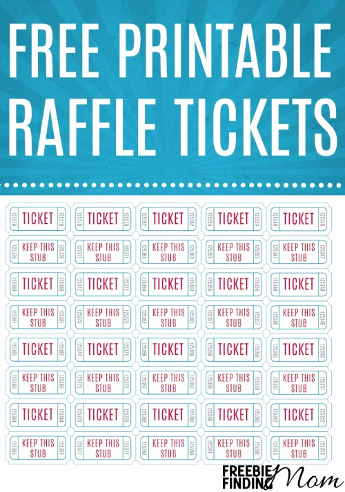 Free Printable Tickets Template Unique Free Printable Raffle Tickets Freebies