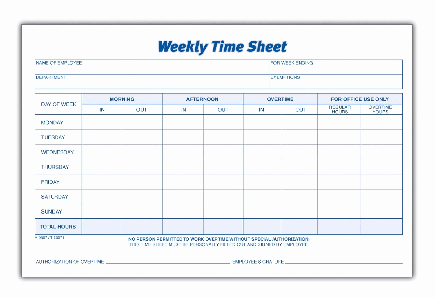 Free Printable Time Sheets Awesome 8 Best Of Blank Printable Timesheets Free