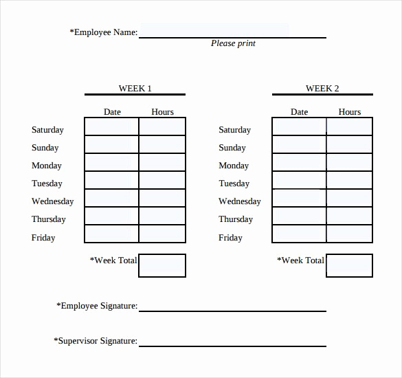 Free Printable Time Sheets Awesome Simple Weekly Timesheet