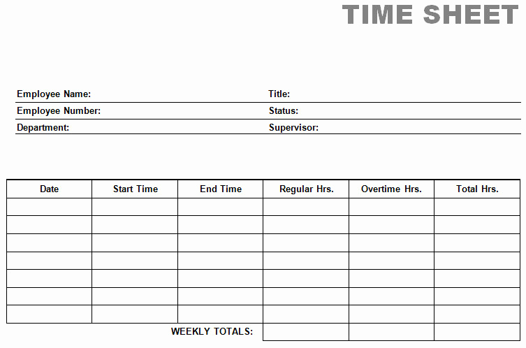 Free Printable Time Sheets Pdf Unique Printable Blank Pdf Time Card Time Sheets