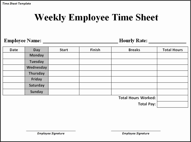 Free Printable Time Sheets Pdf Unique Time Sheet Template Google Search Business