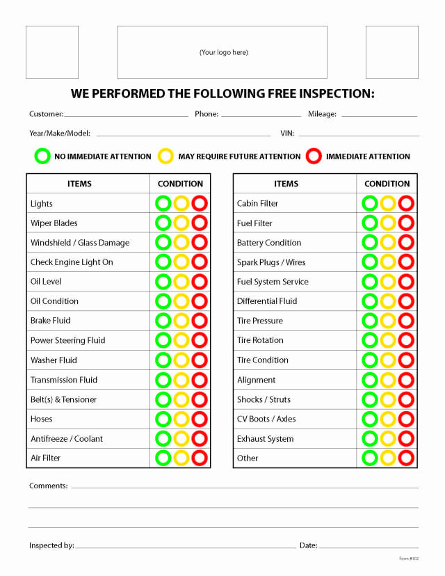 Free Printable Vehicle Inspection form Best Of Free Printable Vehicle Inspection form Free Download