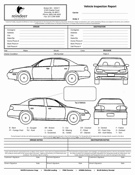 Free Printable Vehicle Inspection form Fresh Image Result for Vehicle Damage Inspection form Template