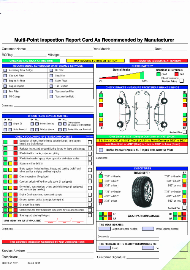 Free Printable Vehicle Inspection form Inspirational Free Printable Vehicle Inspection form Free Download