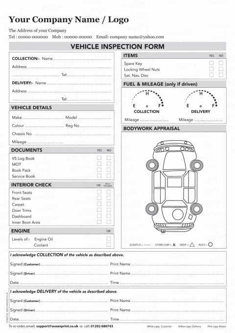 Free Printable Vehicle Inspection form Lovely Vehicle Inspection Sheet Template Vehicle Inspection Poc